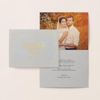 Confetti-Rahmen-Kunst-Dekochic-Hochzeit danken Folienkarte