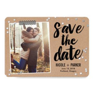 Confetti-Save the Date Karte 12,7 X 17,8 Cm Einladungskarte