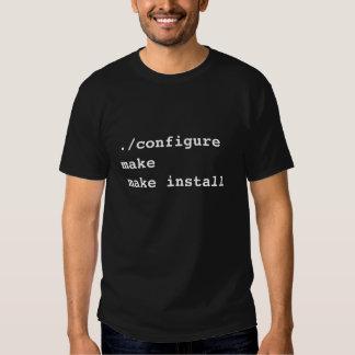 ./configure font pour faire pour installer pour t shirt