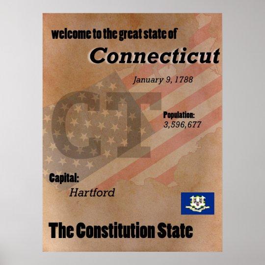 Connecticut der Konstitutions-Staats-Klassiker Poster