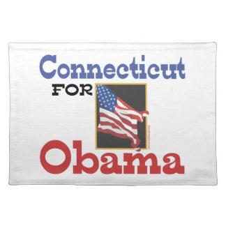 Connecticut für Obama Tischset