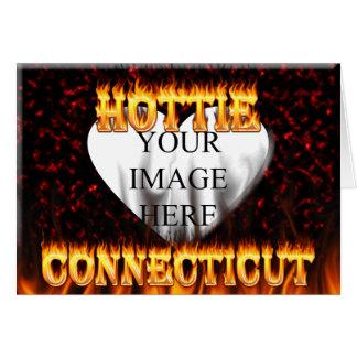 Connecticut hottie Feuer und Flammen Karte