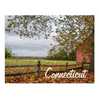 Connecticut-Land-Bauernhof-Postkarte Postkarte