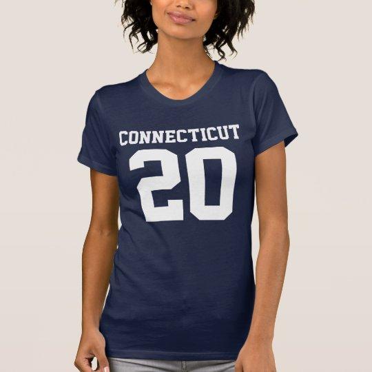 Connecticut mit Zahl (kundengerechte Zahl) T-Shirt