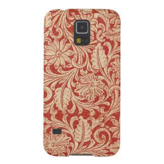 Connexion rouge florale de galaxie de Samsung de d Coques Pour Galaxy S5