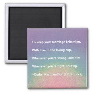 Conseil de mariage - aimant