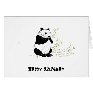 Consommation de panda carte de vœux