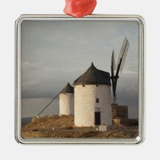 Consuegra, antike La Mancha Windmühlen 3 Silbernes Ornament