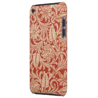 Contact rouge floral d'iPod de Coque-Compagnon de  Coque Barely There iPod