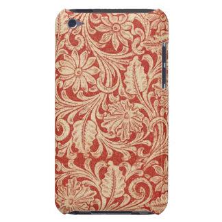Contact rouge floral d'iPod de Coque-Compagnon de  Coque Case-Mate iPod Touch
