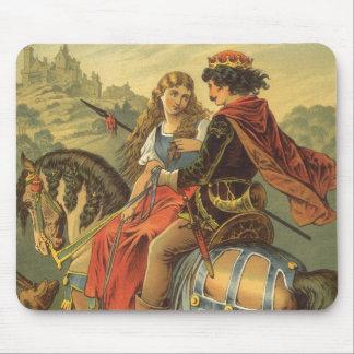 Conte de fées victorien vintage, frère et soeur tapis de souris