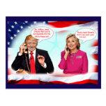 Conversation de téléphone d'atout d'Anti-Donald Carte Postale
