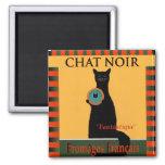Conversation Fromages Noir Français Magnets