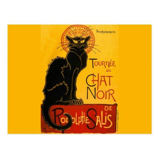 Conversation vintage Steinlen Noir de Nouveau d'ar Carte Postale