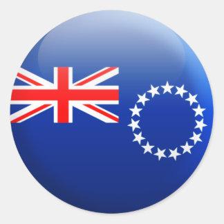Cookinseln-Flagge Runder Aufkleber