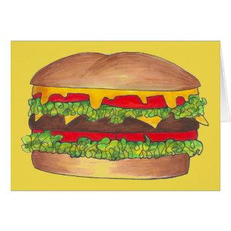 Cookout-Hamburger-Burger-Cheeseburger-Schnellimbiß Karte