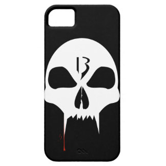 Cool white vampire skull graphic design fone case iPhone 5 case