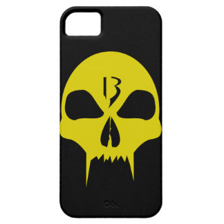 Cool yellow vampire skull graphic design fone case iPhone 5 etuis