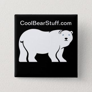 CoolBearStuff.com Quadratischer Button 5,1 Cm
