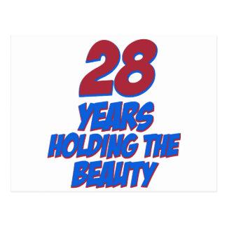 coole 28 Jahre alte Geburtstagsentwürfe Postkarte