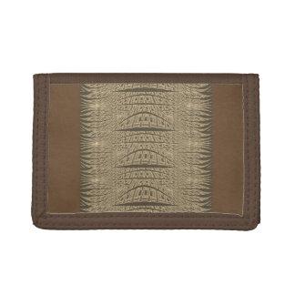 Coole abstrakte Kunst-Geldbörse Browns für Männer