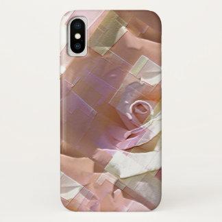 Coole abstrakte Rosen iPhone X Hülle