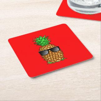 Coole Ananas Rechteckiger Pappuntersetzer
