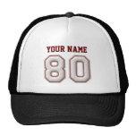 Coole Baseball-Stiche - individueller Name und Nr. Netzkappen