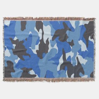 Coole blaue Camouflagegesponnene Decke