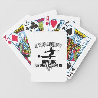 coole Bowling ENTWÜRFE Bicycle Spielkarten