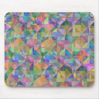 Coole bunte Dreieckquadratformen bedeckt Mousepad