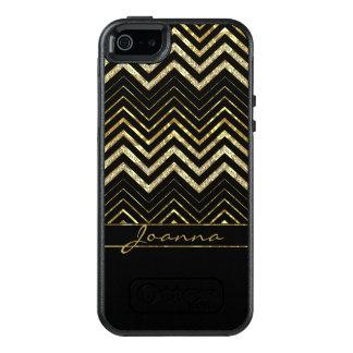Coole Diamanten und GoldZickzack Muster OtterBox iPhone 5/5s/SE Hülle