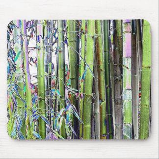 Coole Farben von Blues und Grüntöne Bambus Mousepad