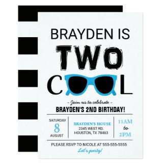 Coole Geburtstags-Einladung des Jungen-zwei 12,7 X 17,8 Cm Einladungskarte