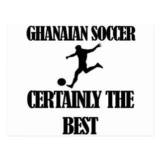 coole ghanaische Fußballentwürfe Postkarte
