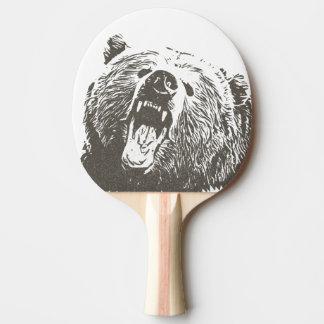 Coole Grizzly-Bärn-Brüllen-Hand gezeichnet Tischtennis Schläger