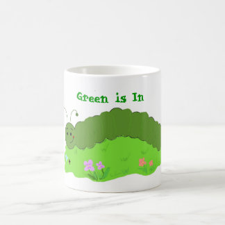 Coole grüne Raupe Kaffeetasse