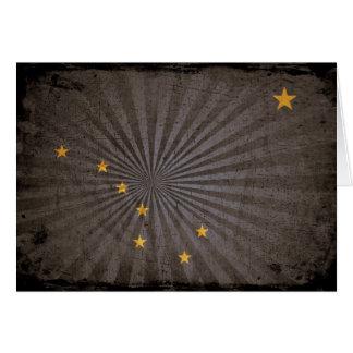 Coole Grunge-Alaska-Flagge Karte
