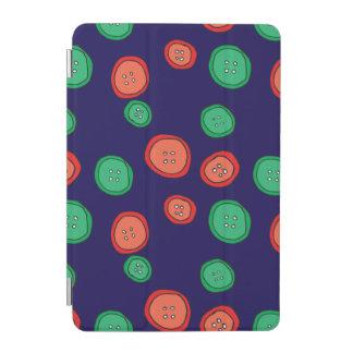 Coole Hand gezeichnete orange und grüne Knöpfe auf iPad Mini Hülle