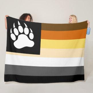 Coole homosexuelle Bärn-Stolz-Flaggen-Bärntatze Fleecedecke