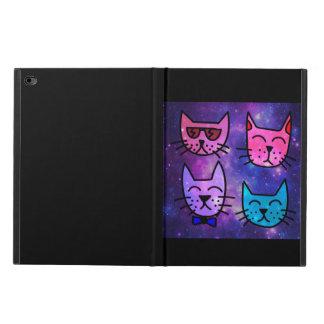 Coole Katzen-Gesichter auf einem Raum-Hintergrund