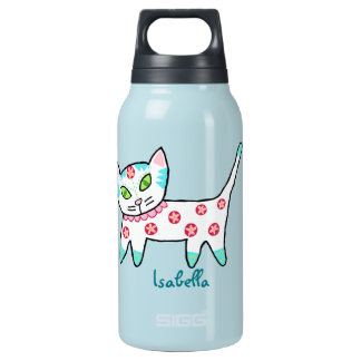 Coole Kitty-Kinder Isolierte Flasche