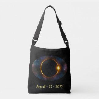 Coole kosmische Gesamtsolareklipse des Augen-2017 Tragetaschen Mit Langen Trägern