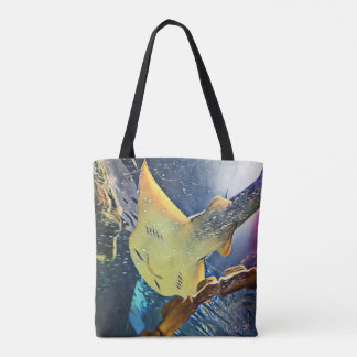 Coole künstlerische Unterseite von Stingray Tasche