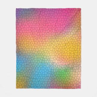 Coole multi Farbabstraktes beflecktes Glas-Muster Fleecedecke