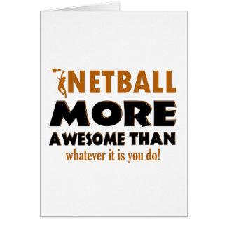 Coole Netballentwürfe Grußkarte
