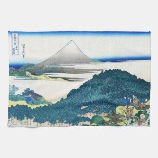 Coole orientalische Japaner Hokusai Fuji Handtuch