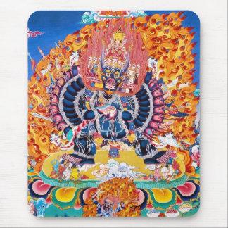 Coole orientalische tangka Yamantaka Todesgottätow Mousepad