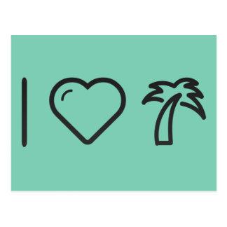 Coole Palme Postkarte