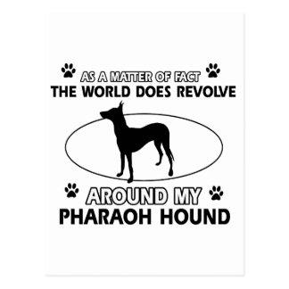 coole PHARAO-JAGDHUND-Entwürfe Postkarte